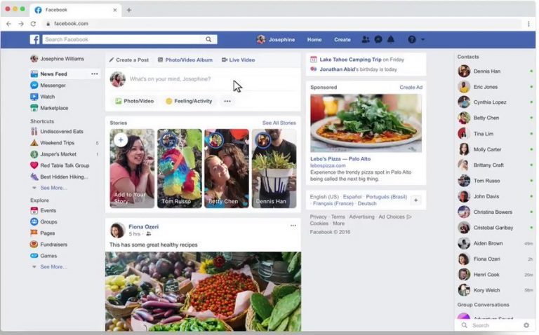 Introducing a fresh and simpler Facebook