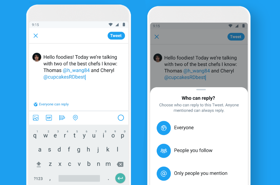 Twitter is testing a new feature that will allow you to choose who to reply to your Tweet